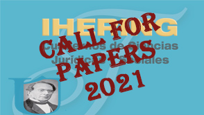 CALL for PAPERS. Ihering. Cuadernos de Ciencias Jurídicas y Sociales Nº 4